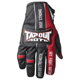 Speed and Strength Tapout Moto Gloves- (Size 2XL Only) (Color: Black/Red / Size: 2XL) 943083