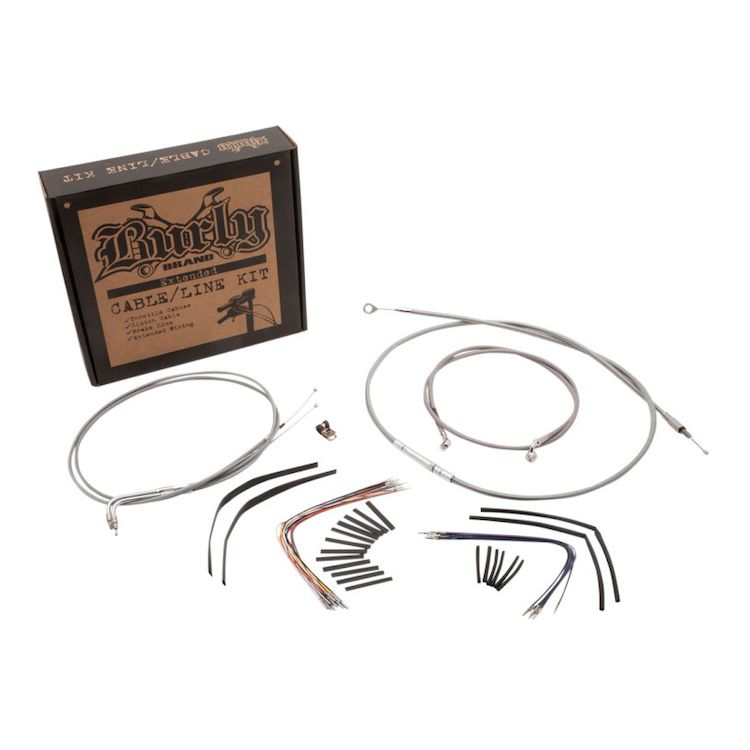 Burly Handlebar Cable Installation Kit For Harley Road King / Glide 2002-2006