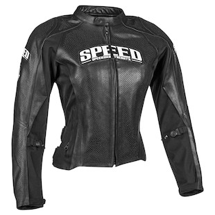 Speed and Strength Throttle Body Women's Leather Jacket (Color: Black / Size: WLG) 944326