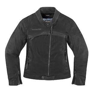 Icon 1000 Hella Women's Jacket (Color: Stealth Black / Size: XL) 946326