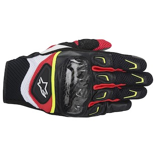 Alpinestars SMX 2 Air Carbon Gloves (Color: Black/White/Yellow/Red / Size: 2XL) 946850