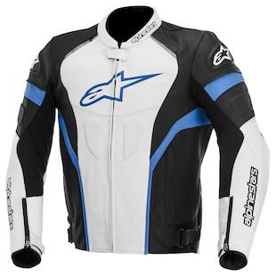 Alpinestars GP Plus R Leather Jacket (Color: Black/White/Blue / Size: 52) 947475