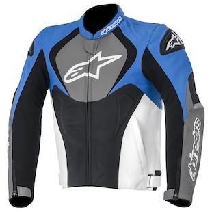 Alpinestars Jaws Leather Jacket (Color: Blue/Anthracite/Black / Size: 56) 947433