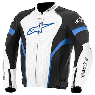 Alpinestars GP Plus R Perforated Leather Jacket (Color: Black/White/Blue / Size: 50) 947395