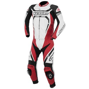 Alpinestars Motegi 2-Piece Race Suit (Color: Black/White/Red / Size: 56) 947375