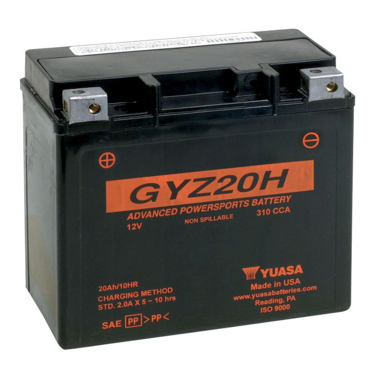 Yuasa GYZ Factory Activated AGM High Performance Battery