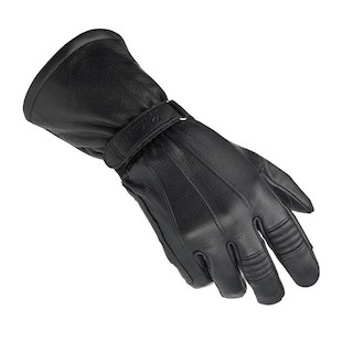 Biltwell Leather Gauntlet Gloves (Color: Black / Size: SM) 949174