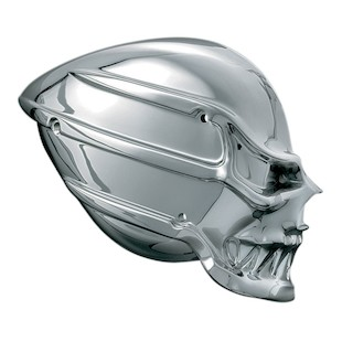 Kuryakyn Skull Air Cleaner For Harley 2008-2017 (Finish: Chrome) 950275