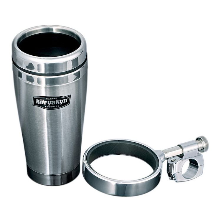 Kuryakyn Universal Handlebar Clamp Drink Holder & Mug