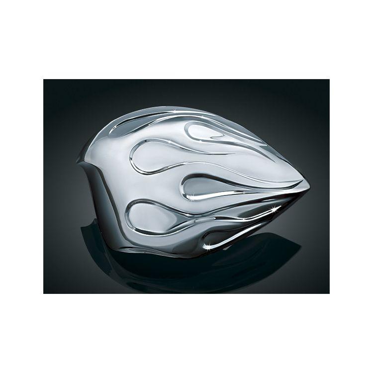 Kuryakyn Flame Horn Cover For Harley 1992-2016