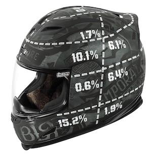 Icon Airframe Statistic Helmet (Color: Rubatone Black / Size: 2XL) 954433