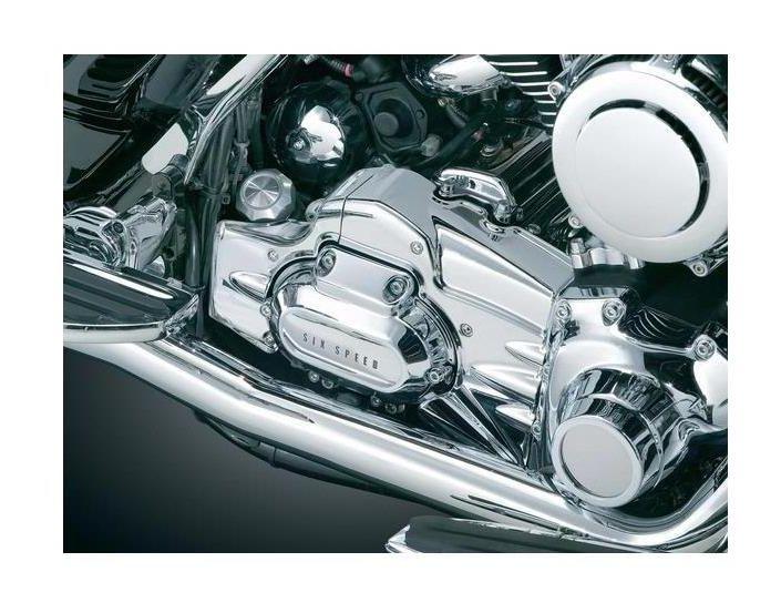 Kuryakyn 7878 Chrome Transmission Shroud For 2007-2017 Harley Davidson Softails