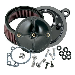 S&S Stealth Air Cleaner Kit For Harley Big Twin Evo 1993-1999 (Type: With Stock CV Carb / Finish: Black) 958190