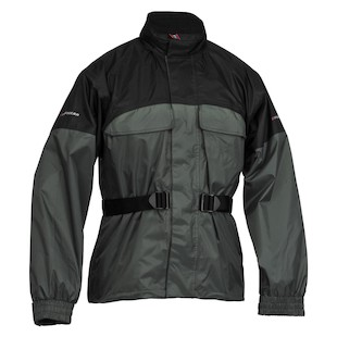 Firstgear Rainman Jacket (Color: Black/Silver / Size: MD) 960078