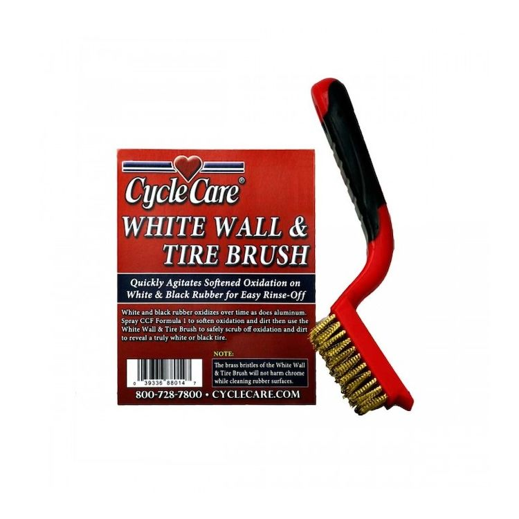 Cycle Care White Wall And Tire Brush