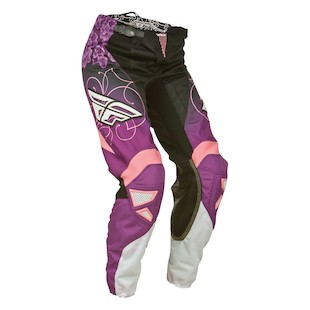 Fly Racing Kinetic Race Women's Pants (Color: Black/Purple/Pink / Size: 13/14 ) 965930