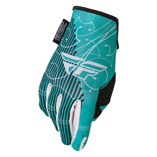 Fly Racing Kinetic Women's Gloves (Color: Teal/White / Size: 9) 965950