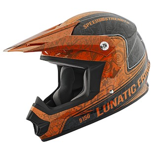 Speed and Strength SS2400 Lunatic Fringe Helmet (Color: Orange/Black / Size: XS) 966974