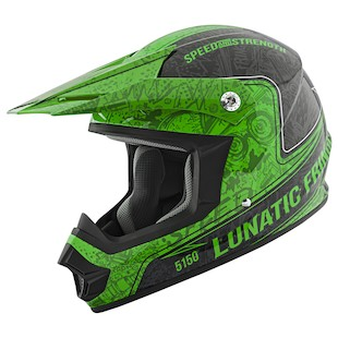 Speed and Strength SS2400 Lunatic Fringe Helmet (Color: Green/Black / Size: 2XL) 966973