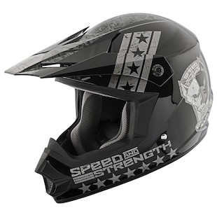 Speed and Strength Youth SS2300 Dogs Of War Helmet (Color: Black/Charcoal / Size: MD) 967050