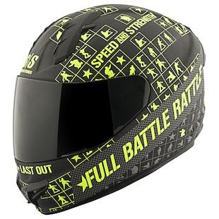 Speed and Strength SS1400 Full Battle Rattle Helmet (Color: Black/Hi-Viz / Size: LG) 967138
