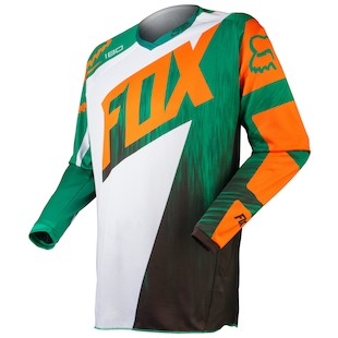 Fox Racing 180 Vandal Jersey (SM and 2XL Only) (Color: Green/Orange / Size: SM) 971994