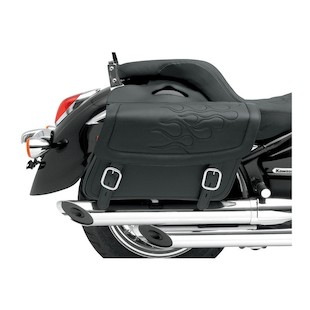 Saddlemen Highwayman Flame Tattoo Saddlebags (Color: Black / Size: Jumbo) 622036