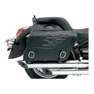 Saddlemen Highwayman Flame Tattoo Saddlebags (Color: Silver / Size: MD) 622040