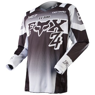 Fox Racing Youth 180 Imperial Jersey (Color: Black/White / Size: LG) 972652