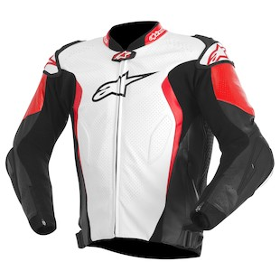 Alpinestars GP Tech Leather Jacket (Color: White/Black/Red / Size: 52) 973190