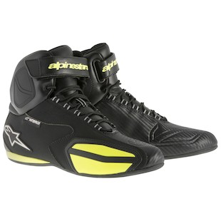 Alpinestars Faster WP Shoes (Color: Black/Yellow / Size: 11) 973661