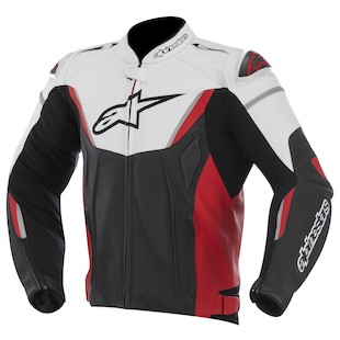 Alpinestars GP-R Leather Jacket (Color: White/Black/Red / Size: 60) 973217