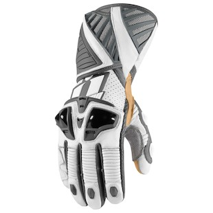 Icon Hypersport Pro Long Gloves (Color: White / Size: MD) 974108