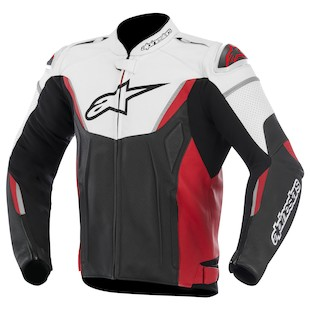 Alpinestars GP-R Perforated Leather Jacket (Color: White/Black/Red / Size: 54) 973238
