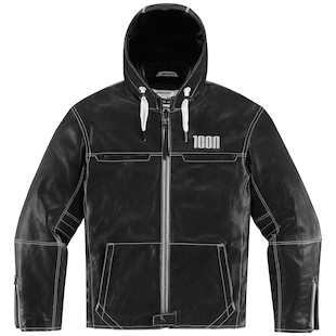 Icon 1000 Hood Leather Jacket (Color: Black / Size: XL) 974230