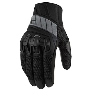 Icon Overlord Women's Mesh Gloves (Color: Stealth Black / Size: LG) 974603