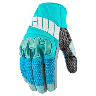 Icon Overlord Women's Mesh Gloves (Color: Blue / Size: MD) 974613