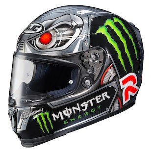 HJC RPHA 10 Pro Speed Machine Lorenzo Helmet (Color: Black/Silver / Size: MD) 975712