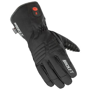 Joe Rocket Rocket Burner Heated Gloves (Color: Black / Size: LG) 975925