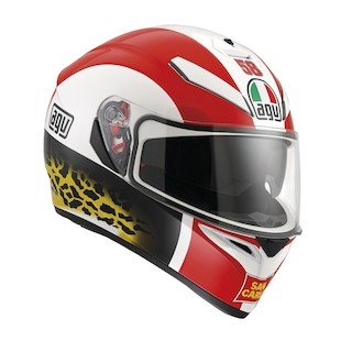 AGV K3 SV Simoncelli Helmet (Color: White/Red / Size: XS) 977340
