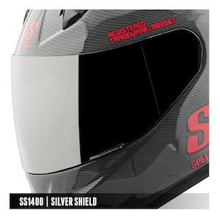 Speed and Strength SS1400 Face Shield (Color: Mirrored Silver) 976217