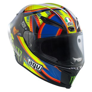 AGV Corsa Double Face Winter Test LE Rossi Helmet (Size SM Only) (Color: Yellow/Black/Blue / Size: SM) 974378
