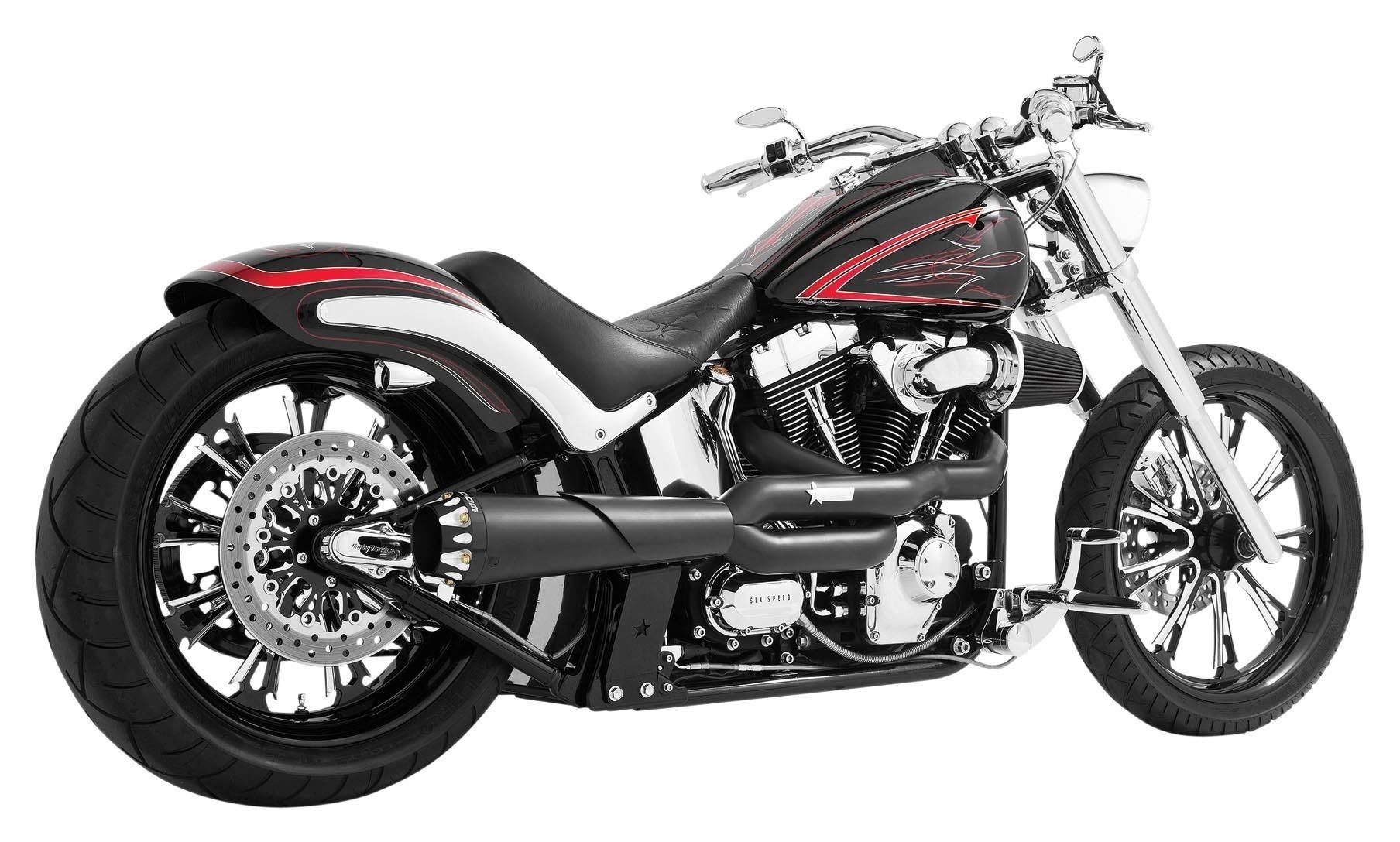 Freedom Performance American Outlaw High 2-Into-1 Exhaust For Harley  Softail 1986-2017