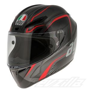 AGV GT Veloce TXT Helmet (Color: Black/Gunmetal/Red / Size: MS) 977310
