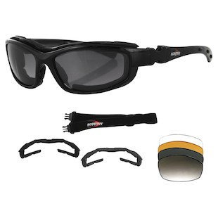 Bobster Road Hog II Goggles / Sunglasses (Color: Black / Size: One Size Fits All) 147063