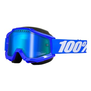 100 Accuri Snow Goggles (Color: Blue / Lens: Mirror Blue)