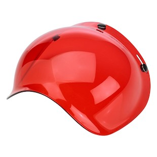 Biltwell Bubble Face Shield (Color: Red) 983498