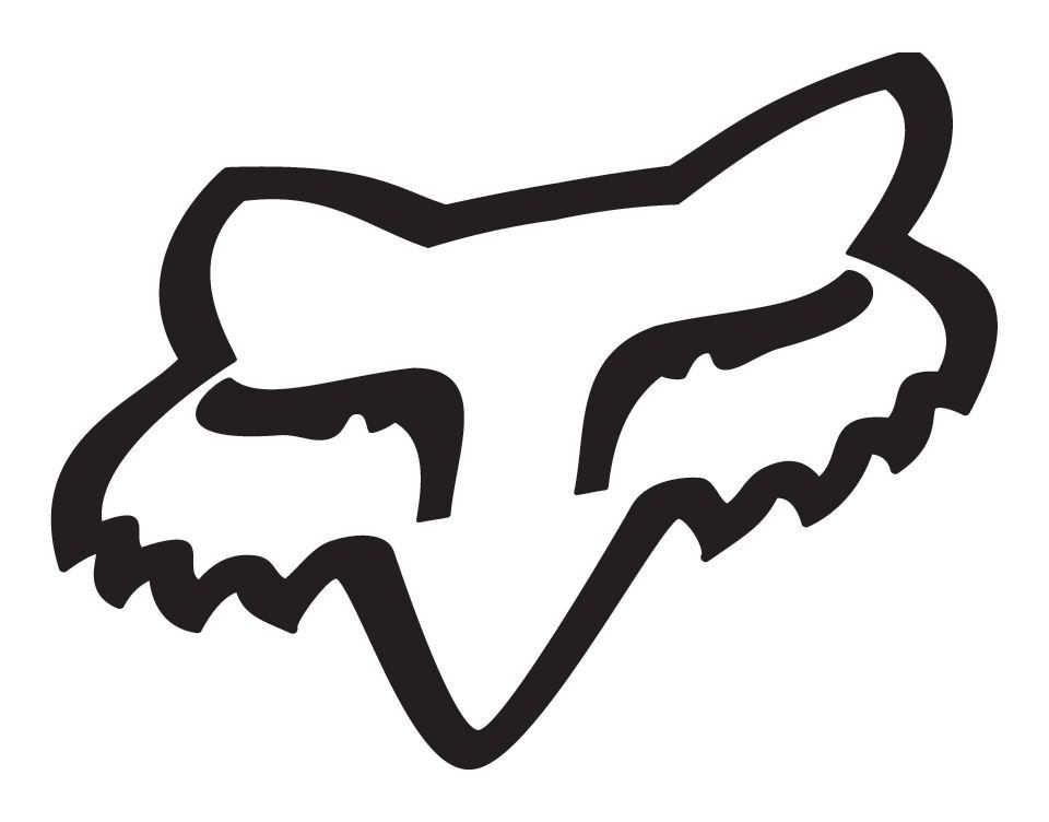 fox racing fox head sticker