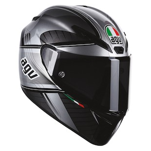 AGV GT Veloce GTX Helmet (Size 2XL Only) (Color: Black/Gunmetal / Size: 2XL) 977307