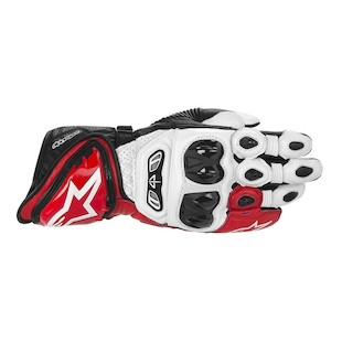 Alpinestars GP Tech Gloves (Color: White/Red/Black / Size: MD) 914373